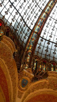 Galeries Lafayette, Paris - ceiling detail | Flickr - Photo Sharing!