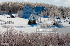 Foto de stock : Silver thaw and Anne of Green Gables Museum, Park Corner, Prince Edward Island, Canada