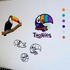 A Daily Source For Logo Design Inspiration — Tucan logo design ♡♥♡ Typography Logo, Graphic Design Typography, Art Logo, Logo Branding, Web Design, Design Art, Bold Logo, Great Logos, Creative Logo