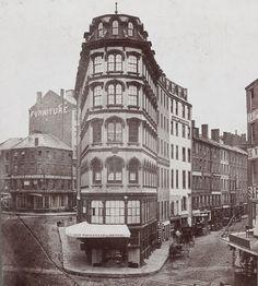 Dock Square in Boston 1880