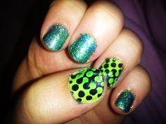 Green/Polka/Glitter
