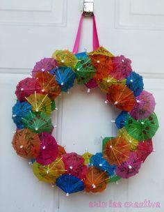 erin lee creative: Drink Umbrella Wreath