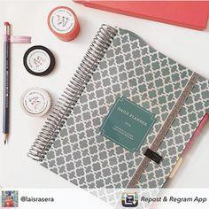 A nossa cliente @laisrasera já está com o ano organizado, e você já fez o mesmo? Compre online e receba em casa.#meudailyplanner #trend #plannerlove #dailyplanner #organização