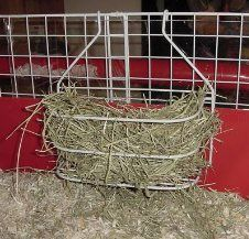 HAY RACK MADE USING THOSE CHEAP SHOWER CADDIES