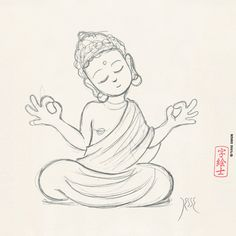 Buddha sketch by: 7e55e #buddhism #skech
