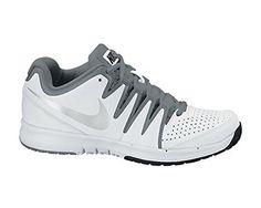 huge selection of 261ec 80852 Nike Women s Wmns Vapor Court , WHITE METALLIC SILVER-COOL GREY, 10.5 US.  Shoe ...