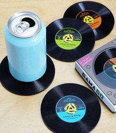 45 Record Drink Coaster Set