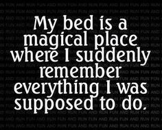 The #bed is magical