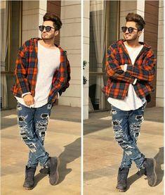 Ł.... Handsome Indian Men, Handsome Boys, Blackpink Fashion, Mens Fashion Suits, How To Wear Denim Jacket, Jassi Gill, Indian Man, Men Style Tips, Celebrity Crush