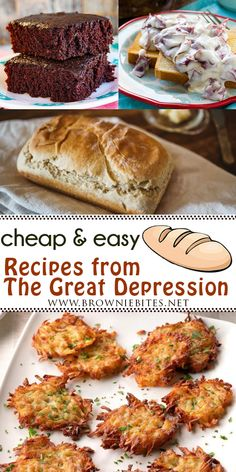 7 Cheap Recipes Straight From The Great Depression Cheap Easy Meals, Frugal Meals, Budget Meals, Frugal Recipes, Easy Tasty Recipes, Grandma's Recipes, Inexpensive Meals, Retro Recipes, Vintage Recipes