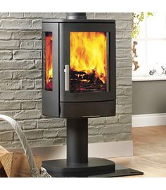 ACR Neo 3 With Pedestal Wood Burning / Multifuel Stove