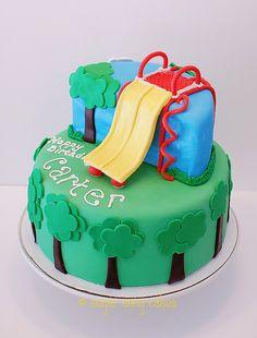 Playground birthday cake  by lorieintucson, via Flickr
