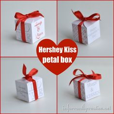 free printable - Valentine Hershey Kiss Box - tiny box to hold one kiss