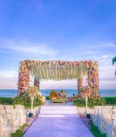 Beautiful outdoor mandap decor
