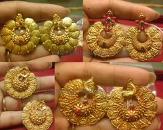 Traditional Style Lakshmi Chandbalis - Jewellery Designs