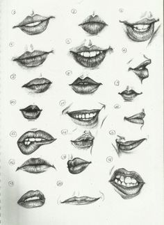 Delineate Your Lips - Ctrl Paint- Draw Lips by on deviantART - How to draw lips correctly? The first thing to keep in mind is the shape of your lips: if they are thin or thick and if you have the M (or heart) pronounced or barely suggested. Drawing Techniques, Drawing Tips, Painting & Drawing, Drawing Ideas, Mouth Painting, Lips Painting, Drawing Lessons, Art Drawings Sketches, Pencil Drawings
