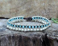 Aquamarine Jingling Silver Anklet