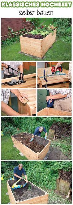 Ein Hochbeet hat nicht nur den Vorteil, dass man sich bei der Gartenarbeit nicht mehr bücken muss. Durch die Höhe und die verschiedenen Schichten im Beet steigt auch die Temperatur im Vergleich zum flachen Beet. Dadurch kann man schneller ernten, als im normalen Beet. Wir zeigen, wie man ein Hochbeet-Kasten aus Douglasie selbst baut und wie man es richtig befüllt.