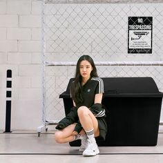Image discovered by KILL THIS LOVE 💔🔫. Find images and videos about kpop, adidas and apink‬ on We Heart It - the app to get lost in what you love. Black Korean, Best Photo Poses, Apink Naeun, Adidas Outfit, All Black Outfit, Korean Outfits, Unisex Fashion, Ulzzang Girl, Black Adidas