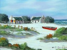 Image result for paintings of fishermen's cottages