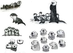 Discover recipes, home ideas, style inspiration and other ideas to try. Finding Dory Otters, Otter Tattoo, Baby Otters, Baby Sloth, Otter Love, Disney Concept Art, Creature Design, Spirit Animal, Animal Drawings