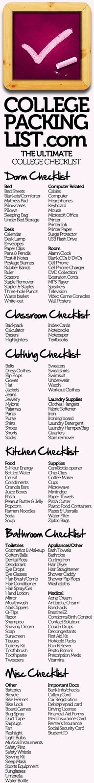 Great list and infographic from collegepackinglist.com. Thx for sharing Wake Forest University Stores!