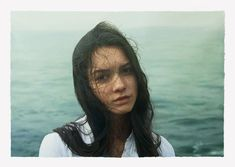 by Yigal Ozeri Aquabella, oil on paper, 42x60 in, 2011