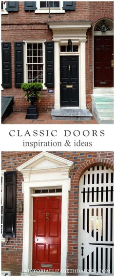 Traditional door colors… inspiration and ideas from historic Philadelphia: homes and entrances: classic paint colors.