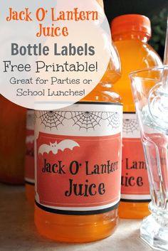 The Creek Line House: Jack O' Lantern Juice Bottle Labels - Free printable!