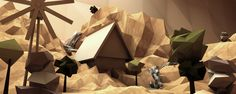 Low-Poly #2 by Friedrich Neumann, via Behance