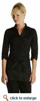 Nice Black Uniform from sharperuniforms.com #restaurant #uniform #work