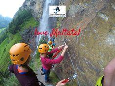 Direkt am höchsten Wasserfall Kärntens liegt der Fallbach Klettersteig im wunderschönen Tal der stürzenden Wasser. Rafting, Social Media, Outdoor, Adventure, Sports, Climbing, Nice Asses, Outdoors, Hs Sports