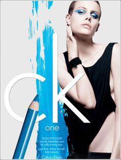Calvin Klein eyeliner cosmetic ad