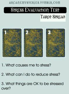 Stress anxiety tarot card spread / Oracle Cards / Divination Layout