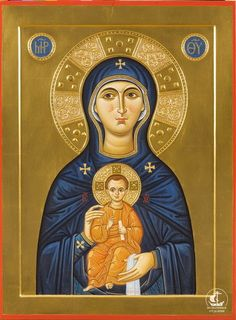 Icone per mano di Aleksandr Stal'nov (александр стальнов) / Lab. Religious Images, Religious Icons, Religious Art, Religious Paintings, Byzantine Icons, Madonna And Child, Orthodox Icons, Blessed Mother, Mother And Child