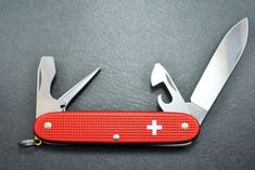 """Vintage Victorinox Swiss Army knife - Old Cross Alox Pioneer- Blade stamped """"80""""- PERFECT! by HobieonEtsy on Etsy"""