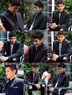 """Wu Yi Fan at the set """"Somewhere Only We Know"""""""