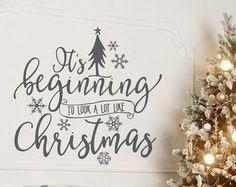 Christmas wall decal | Etsy