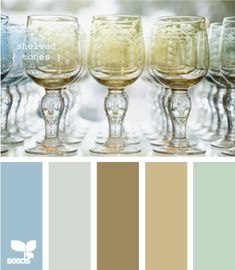 shelved tones via design seeds - family room Palettes Color, Colour Pallette, Color Palate, Colour Schemes, Color Combinations, Neutral Palette, Neutral Tones, Color Trends, Wall Colors