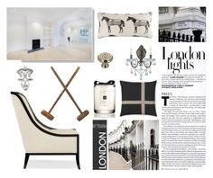 """""""London Townhouse"""" by barngirl ❤ liked on Polyvore featuring interior, interiors, interior design, home, home decor, interior decorating, Crystorama, Jo Malone, Thomaspaul and Williams-Sonoma"""