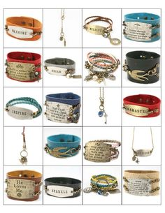 Lenny & Eva  interchangeable jewelry.  New styles just in!  www.morethanwords.com