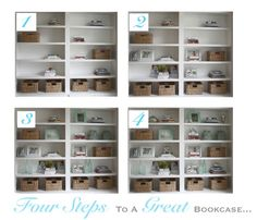 Four Simple Steps To a Great Bookcase Display...this is beautiful...wonder where they got that bookcase?