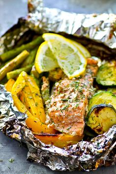 These grilled salmon