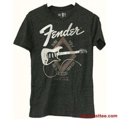 Buy Fender Logo Rock N Roll Punk Folk Tee Shirt Fender