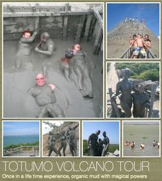 totumo volcano - mud bath The easiest way to get there is to take a tour. There is a morning tour at 8:30am which includes lunch and a stop at the beach and an aftertoon tour at 1:30pm without lunch or any other stops. These cost around COP 25,000-40,000 (Nov 2012) and can be booked through many hotels, hostels and tour agencies in town.