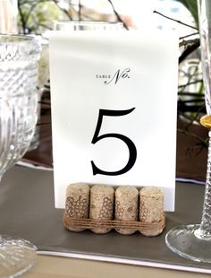 cork table numbers #wedding #treschiceventplanning The Tres Chic Bride: W+C - DIY Done Right