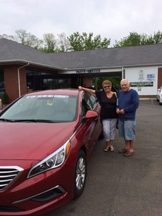 Here we have Cheryl and Denis Beaulieu with their Hyundai Sonata. Kristin Ami and all of us at Gary Rome Hyundai appreciate your business. Thanks again!  www.GaryRomeHyundai.com or 888-637-4279