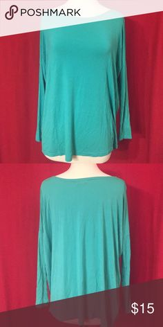 Teal Long Sleeve Piko Super soft. Flowy. Perfect condition. Dress it up with jewelry jeans and wedges or down with leggings. Most comfortable tops on earth. Great with scarves too. FREE GIFT WITH BUNDLES Piko 1988 Tops