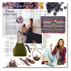 """Boho Daze"" by leamonroe ❤ liked on Polyvore featuring moda, Topshop, Crate and Barrel, Bobbi Brown Cosmetics, Nina Ricci, Stila, bohochic, polyvoreeditorial, shopbellaeve e BellaEveBoutique"