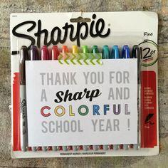 sharpie marker free printable for teacher appreciation